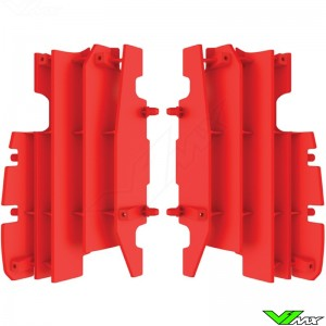 Radiator louvers Red Polisport - Honda CR125 CR250