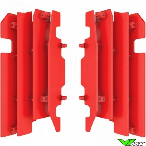 Radiator louvers Red Polisport - Honda CR125 CR250 CRF450R