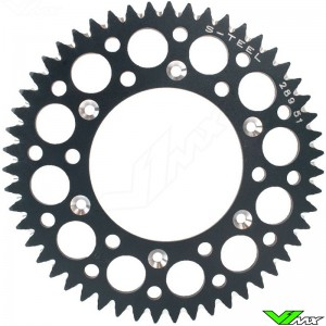 S-Teel Aluminum Rear Sprocket 53 teeth - Husqvarna Sherco GasGas