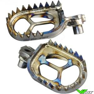 Foot pegs Scar titanium - Suzuki RMZ250 RMZ450
