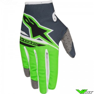 Alpinestars Radar Flight Crosshandschoenen Anthracite / Fluo Groen