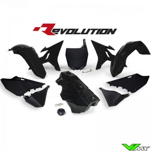 Rtech Revolution Plastic kit + Fuel Tank Black YZ125 YZ250