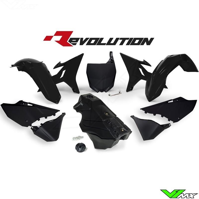 Rtech Revolution Plastic kit + Fuel Tank Black YZ125 YZ250