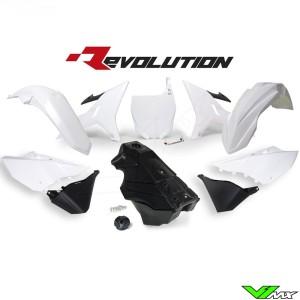 Rtech Revolution Kappenset + Benzinetank Zwart/Wit YZ125 YZ250
