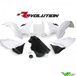 Rtech Revolution Plastic kit + Fuel Tank Black/White YZ125 YZ250