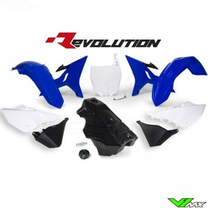Rtech Revolution Plastic kit + Fuel Tank OEM Blue/White/Black YZ125 YZ250