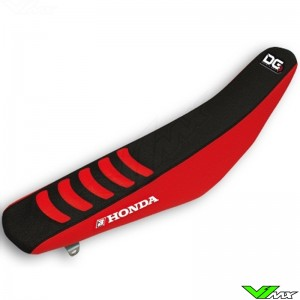 Zadelovertrek Blackbird Double grip 3 zwart/rood - Honda CRF450R
