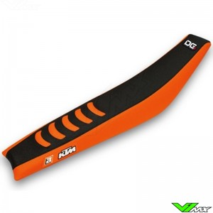 Zadelovertrek Blackbird Double grip 3 zwart/oranje - KTM 125-530EXC 125-620SX