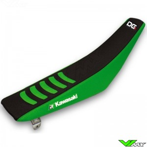 Zadelovertrek Blackbird Double grip 3 zwart/groen - Kawasaki KX125 KX250