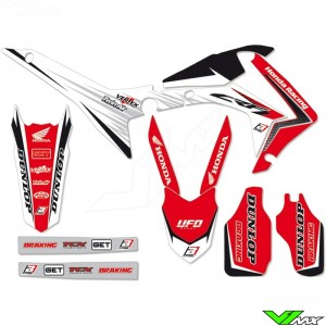 Stickerset Blackbird Linear Graphics - Honda CRF250R CRF450R