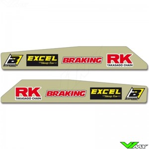 Achterbrug stickers - Honda CR125 CR250 CRF250R CRF450R