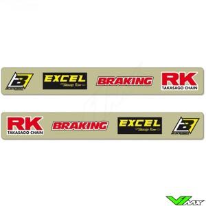Achterbrug stickers - Suzuki RM125 RM250 RMZ250 RMZ450