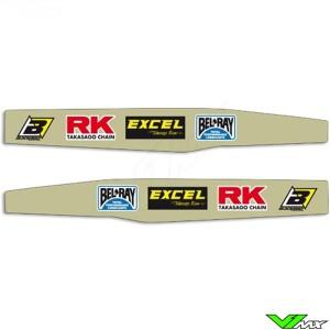 Achterbrug stickers - Husqvarna TC125 FC250 TC250 FC350 FC450
