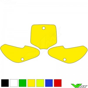 Number plate backgrounds clean - Suzuki RM65