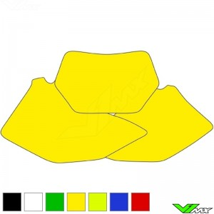 Number plate backgrounds clean - Yamaha WR250F WR450F
