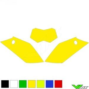 Number plate backgrounds clean - GasGas EC125 EC250 EC300 EC250F EC300F EC450F