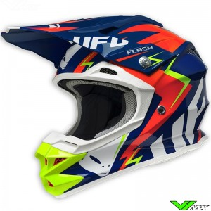 UFO Interceptor MX Helmet Blue / Red / Fluo (XS / 53-55cm)