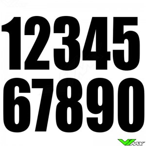 Race numbers Black 130x70mm enduro