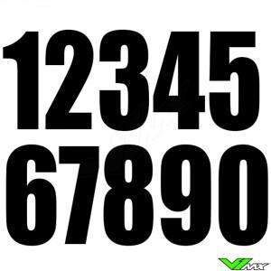 Racenummers Zwart 130x70mm enduro