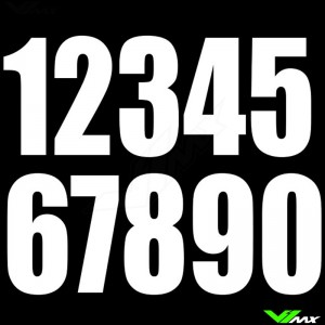 Race numbers White 130x70mm enduro