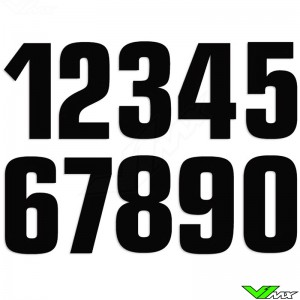Race numbers Black 160x75mm MX