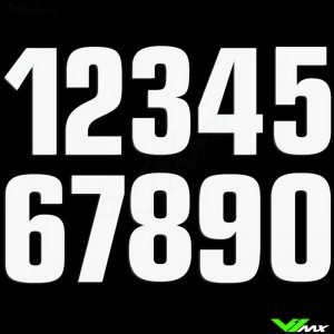 Race numbers White 160x75mm MX