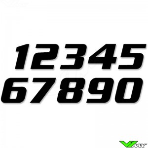 Race numbers Black 200x250mm SX
