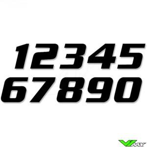 Racenummers Zwart 200x250mm SX