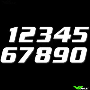 Race numbers White 200x250mm SX