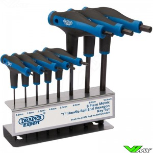 T-handle Draper Hexagon and Ball end key set 8-piece