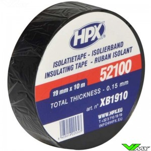 Isolatietape HPX zwart 19mm x 10m