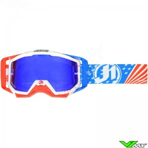 Just1 Iris Motocross Goggles USA White / Blue / Red
