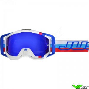Just1 Iris Motocross Goggles M2 White / Blue / Red