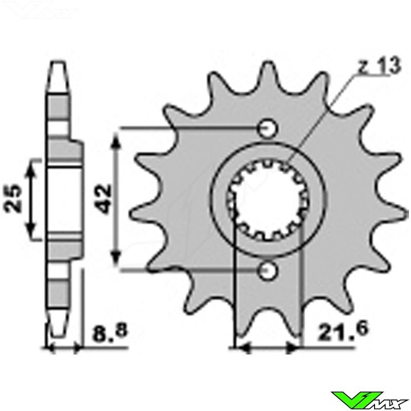 Front sprocket steel PBR (520) - Kawasaki KLR250 KLR500 KLR600 KLR650 on 2003 chevy silverado radio wiring diagram, kawasaki atv wiring diagram, z1000 wiring diagram, klr 250 timing, kawasaki bayou 220 wiring diagram, klr 650 wiring diagram, kawasaki mule 600 wiring diagram, yamaha wiring diagram, motorcycle wiring diagram, klr 250 manual, stator wiring diagram, kawasaki prairie 300 wiring diagram, klr 250 exhaust, klf 300 wiring diagram, klr 250 tires, kawasaki vulcan 750 wiring diagram, kawasaki mule 500 wiring diagram, klr 650 carb diagram, klx 650 wiring diagram, cycle electric regulator wiring diagram,