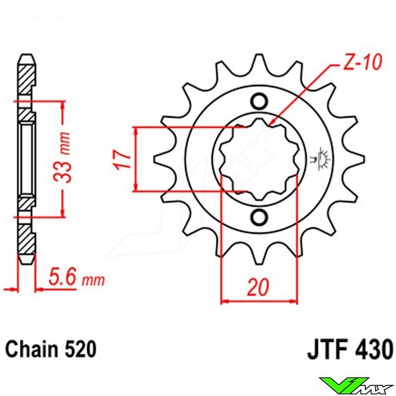 SCM420 Chromoly Steel JT JTF430.15 Motorcycle Front Drive Sprocket