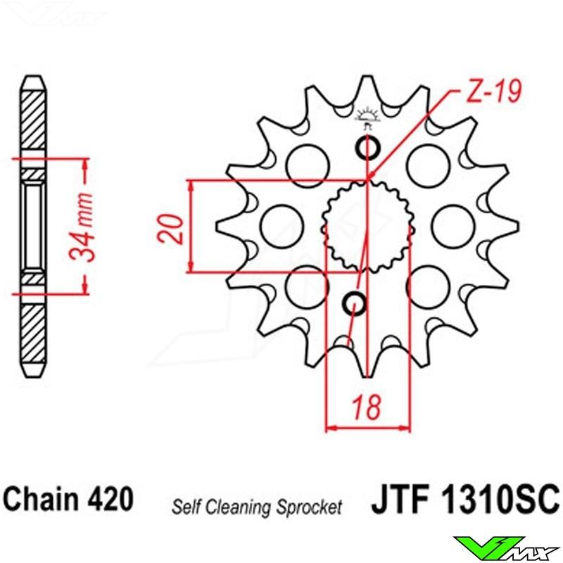 front sprocket steel jt (420) honda crf150r v1mxfront sprocket steel jt  sprockets (420