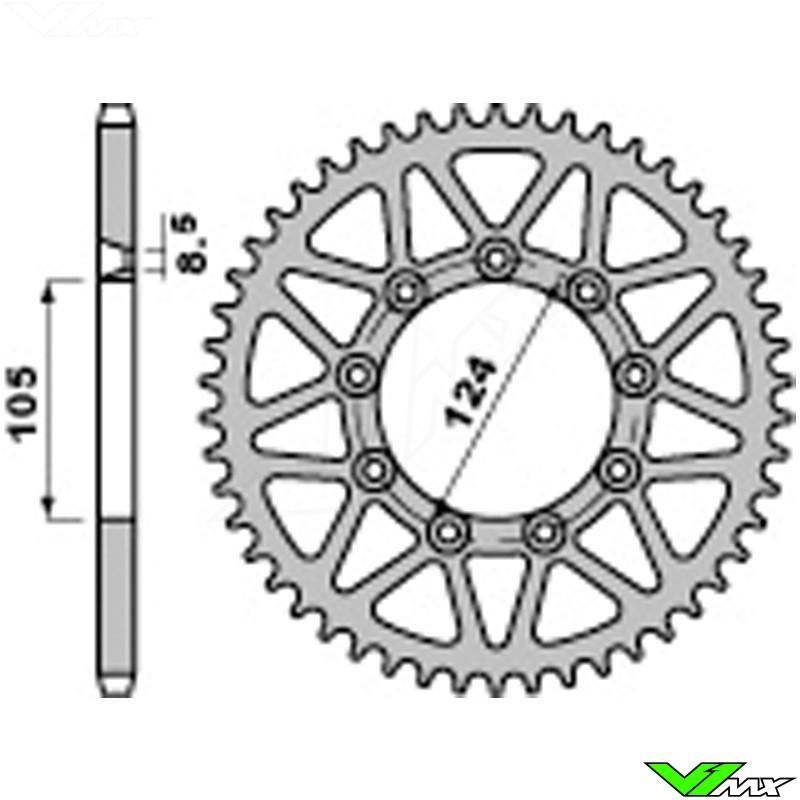 Rear sprocket steel PBR (520) - TM EN125-530 MX80-450