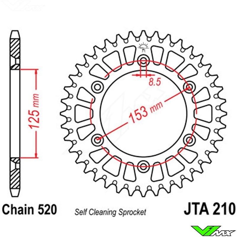 ~1021987 Japan JT Rear Sprocket JTR245//2 ~1004990 Honda CBR250 RH