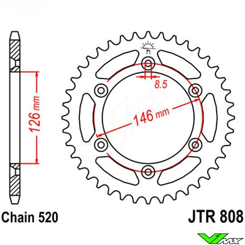 42T 50T 51T Rear Sprocket for Suzuki DR DRZ400SM TSR RM125 RMX RMZ250 450 RS175