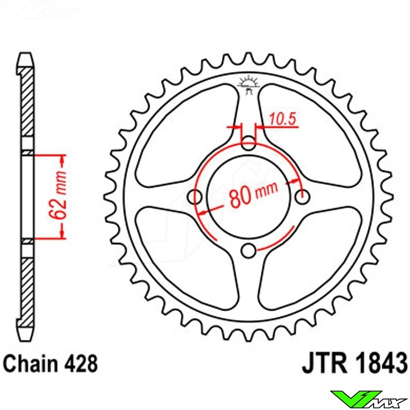 Rear Sprocket Steel Jt 428