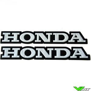 Honda Legpatch wit (2 stuks)