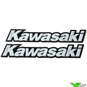 Kawasaki Legpatch wit (2 stuks)