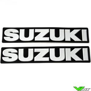 Suzuki Legpatch wit (2 stuks)