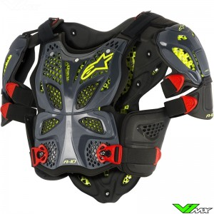 Alpinestars 2018 A10 Full Body Protector Anthracite / Zwart / Rood