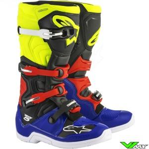 Alpinestars 2018 Tech 5 MX Boots Blue / Black / Fluo Yellow / Red