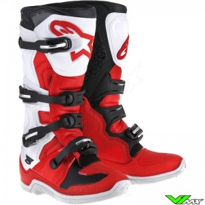 Alpinestars Tech 5 MX Boots Red / White / Black