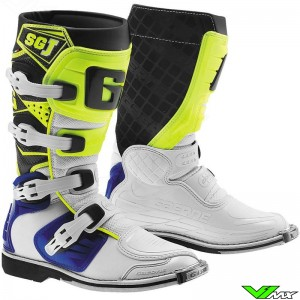 Gaerne SG-J Motocross Boots Blue / Fluo Yellow