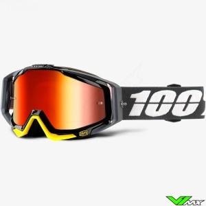 100% Racecraft Crossbril Fortis - Mirror Rood