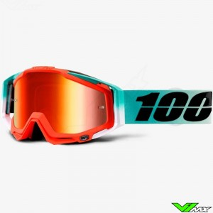 100% Racecraft Goggle Cubica - Mirror Red