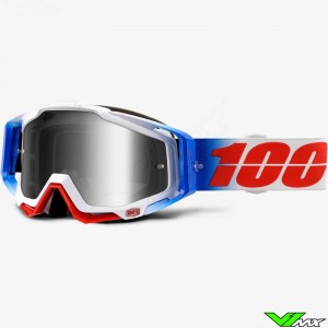 100% Racecraft Goggle Fourth - Mirror Silver